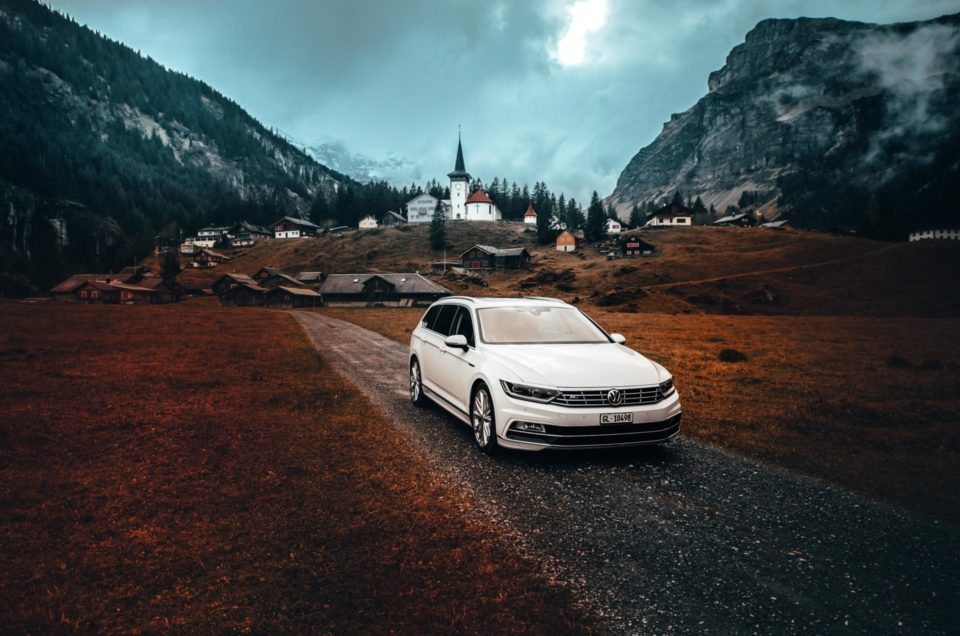 VW Passat on Mountains